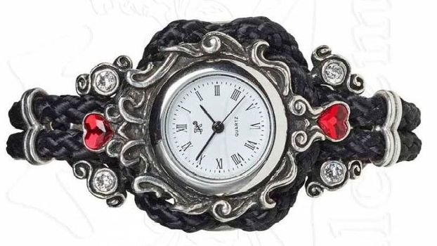 A wearable timepiece with a Gothic design