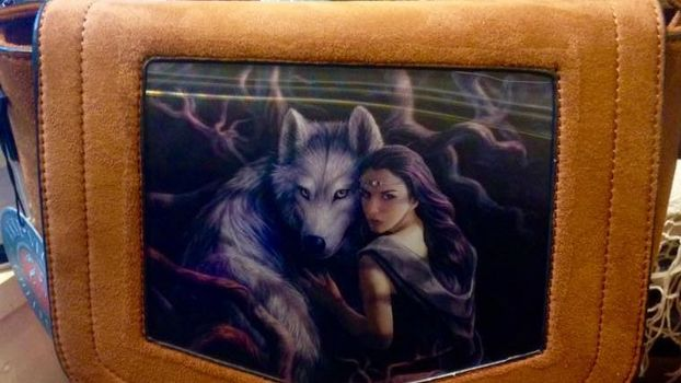 Lenticular handbags with standout designs by artists such as Anne Stokes and Lisa Parker