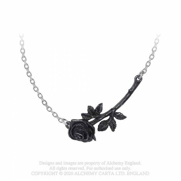 P913 Black Rose Enigma Pendant
