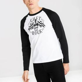 GUITAR HEAD RAGLAN SLEEVE TSHIRT