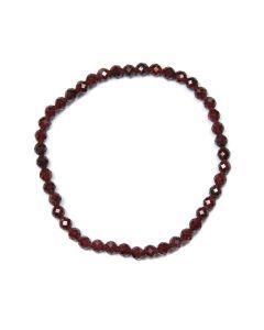 4mm Facet Bracelet Garnet (1 Piece)