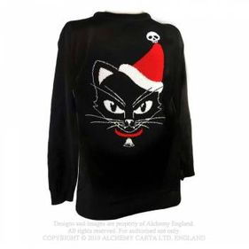 XJ5 Black Cat Christmas Jumper Jumper