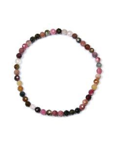 4mm Facet Bracelet Tourmaline Mixed (1 Piece)