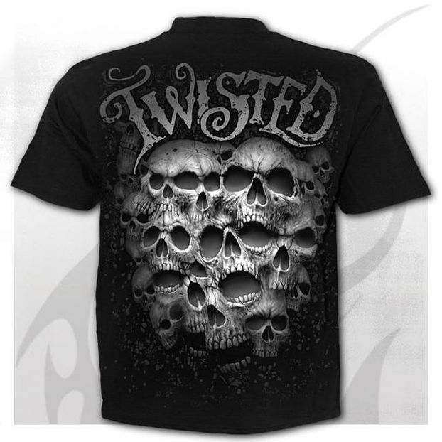 TWISTED SKULLS - T-Shirt Black