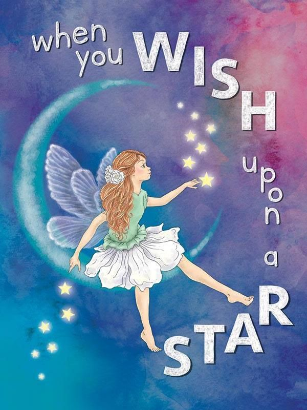 When you wish upon a star Large Metal Sign 30cm x 40cm