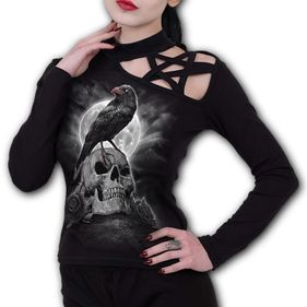 GRAVE WALKER - Pentagram Shoulder Longsleeve Top