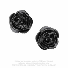 E339 The Romance of Black Rose Stud
