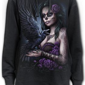 DOTD RAVEN - Ladies Dipped Hem Oversized Hoodie