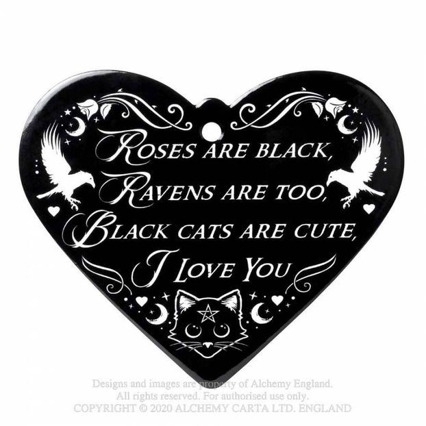 CT11 New product Roses Are Black - Poetic Heart